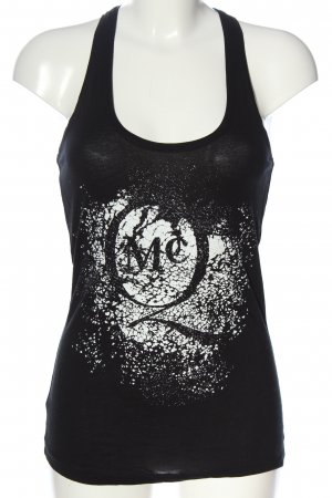 Alexander McQueen Strappy Top black-white printed lettering casual look
