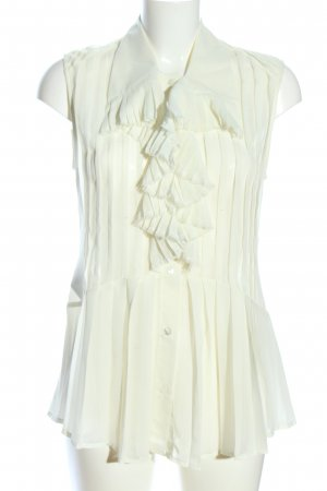 Alexander McQueen Transparenz-Bluse wollweiß Business-Look