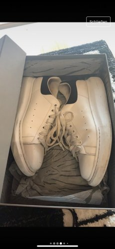 Alexander McQueen High top sneaker zwart-wit