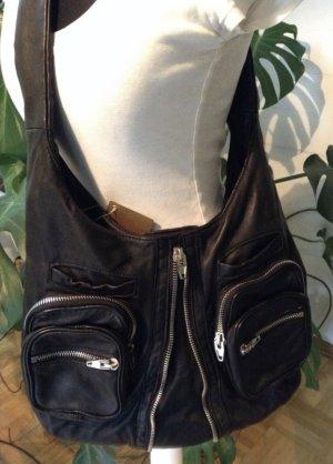 Alexander Wang Sac hobo noir cuir