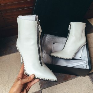 Alexander Wang Eri Boots Ankle Booties Stiefeletten Pumps High Heels studded Leder zipper vintage retro runway designer