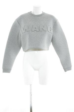Alexander Wang for H&M Crewneck Sweater grey-light grey mixture fibre