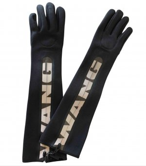 Alexander Wang for H&M Guantes negro-color plata poliamida