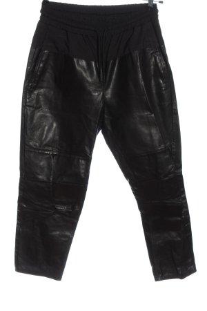 Alexander Wang for H&M Pantalon en cuir noir style décontracté