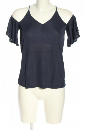 Alexander Wang for H&M Blusa de manga corta azul look casual