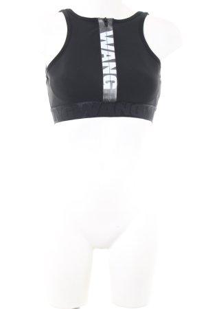Alexander Wang for H&M Sporttop schwarz Schriftzug gedruckt Casual-Look