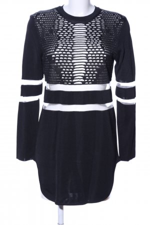 Alexander Wang for H&M Vestido tejido negro-blanco look casual