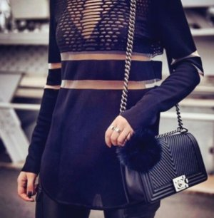 Alexander Wang Long Sweater black mixture fibre