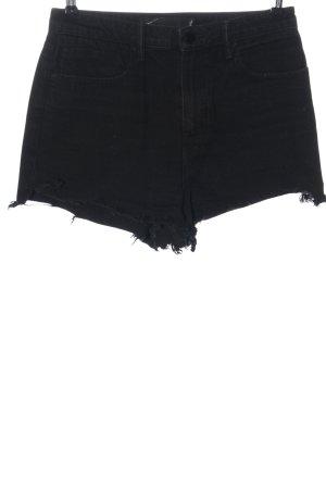 Alexander Wang Short en jean noir style décontracté