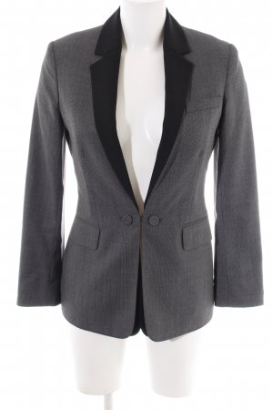 Alexander Wang Blazer long gris clair-noir style d'affaires