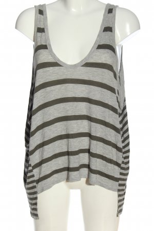 Alexander Wang Top largo gris claro-negro moteado look casual