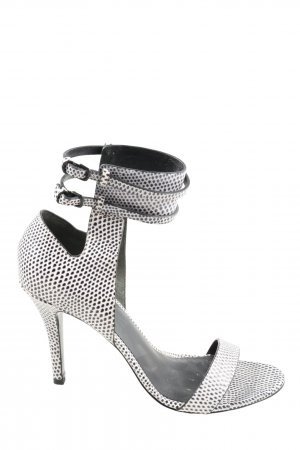 Alexander Wang Peep Toe Pumps white-black allover print casual look
