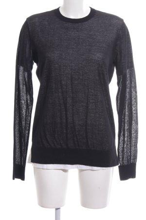 Alexander Wang Kraagloze sweater zwart gestippeld casual uitstraling