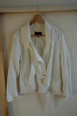 Alexander Wang Short Blazer white-bronze-colored cotton