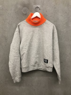 Alexander Wang Pull long gris clair laine