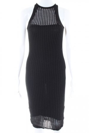 Alexander Wang Pinafore dress black loosely knitted pattern beach look