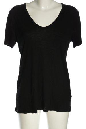 Alexander Wang V-Ausschnitt-Shirt schwarz Casual-Look