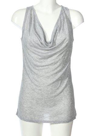 Alexander Wang Cowl-Neck Top light grey flecked casual look