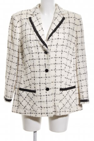 Alexander Wool Blazer white-black check pattern business style