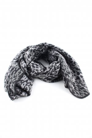 Alexandra Woolen Scarf light grey-black allover print casual look