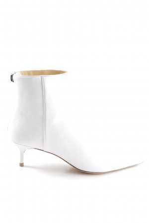 Alexandre Birman Zipper Booties white elegant