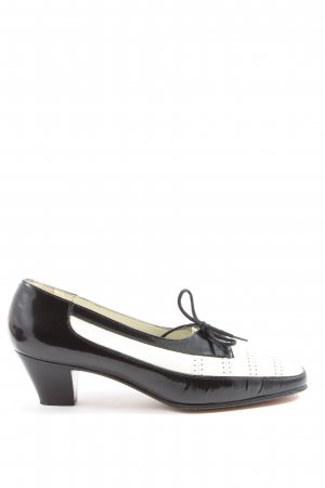 Alexandria Loafers black-white business style