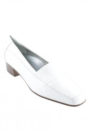 Alexandria Moccasins white business style