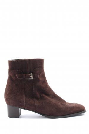 Alexandria Zipper Booties brown casual look