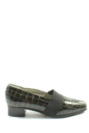 Alexandria Slip-on kaki motif animal style d'affaires