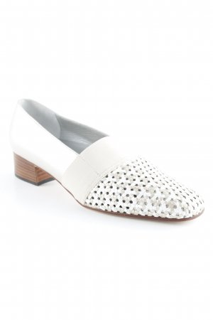 Alexandria Slip-on Shoes beige-grey brown weave pattern casual look