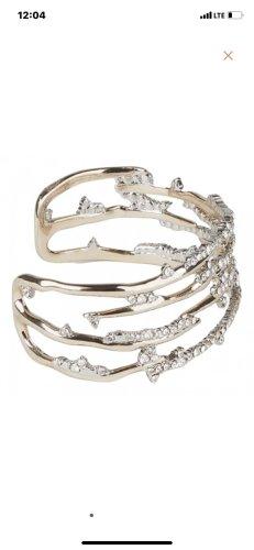 Alexis Bittar Bracelet de bras blanc-doré métal