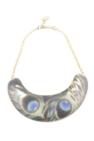 Alexis Bittar Halskette goldfarben-graugrün abstraktes Muster