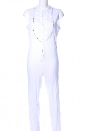 Alexis Mabille Jumpsuit weiß Business-Look