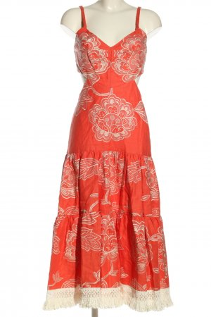 Alexis Sukienka midi czerwony-w kolorze białej wełny W stylu casual