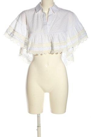 Alexis Blusa caída blanco-blanco puro look casual