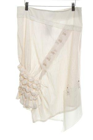 alexo Asymmetry Skirt cream-nude striped pattern extravagant style