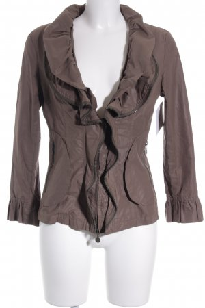 alexo Blouse Jacket grey brown elegant