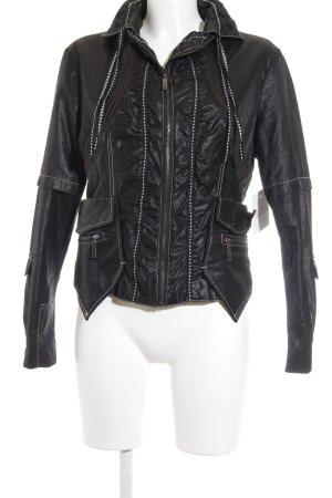 alexo Short Blazer black-silver-colored wet-look