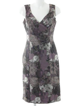 Alexon Etuikleid grauviolett Blumenmuster Elegant