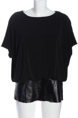 Alfani Blusa de manga corta negro estilo «business»