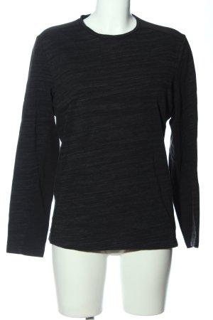 Alfani Top à manches longues noir-blanc cassé moucheté style décontracté