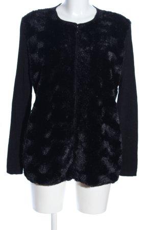Alfred Dunner Fur Jacket black casual look