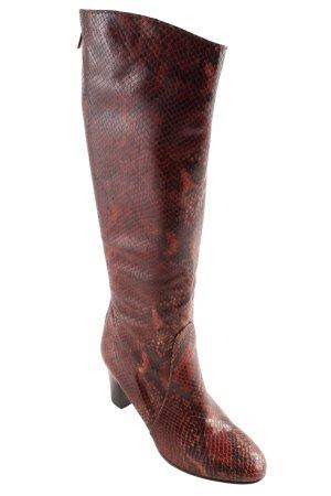 Alfredo Giantin Botas estilo militar rojo oscuro estilo extravagante