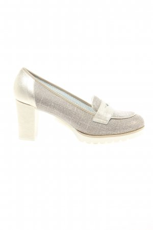 Alfredo Giantin Loafers light grey-gold-colored casual look