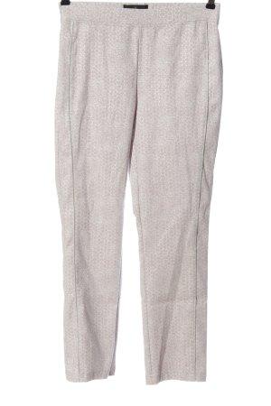 Alfredo Pauly Pantalone a 7/8 bianco sporco-rosa stile casual