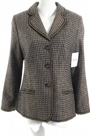 Alfredo Pauly Blazer black-gold-colored check pattern extravagant style