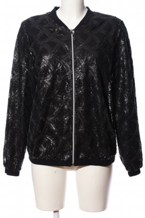 Alfredo Pauly Bomber Jacket black graphic pattern casual look