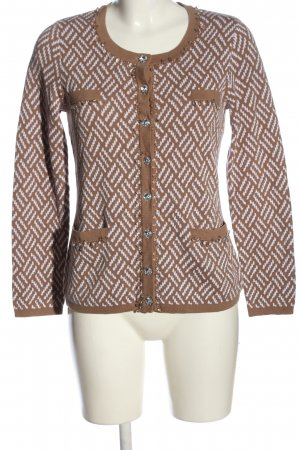 Alfredo Pauly Cardigan brown-white abstract pattern casual look