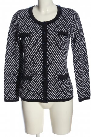 Alfredo Pauly Cardigan black-white allover print casual look