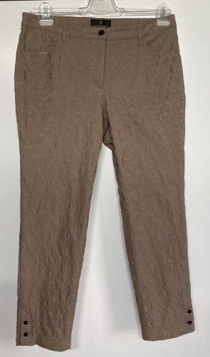 Alfredo Pauly Pantalon cinq poches beige coton